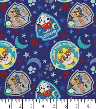 Paw Patrol Cotton Fabric-Pups Moons Star