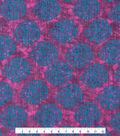 Kathy Davis Cotton Gauze Fabric -Purple Bubble Print