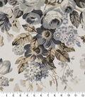Robert Allen @ Home Print Swatch 55\u0022-Medley Blooms Pewter