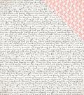 Wedding Bliss Double-Sided Cardstock 12\u0022X12\u0022-Wedding Script