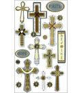 Jolee\u0027s Boutique Le Grande Dimensional Stickers-Faith Hope And Rejoice