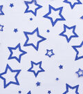 Embellished Mesh Fabric 54\u0027\u0027-Blue Glitter Stars