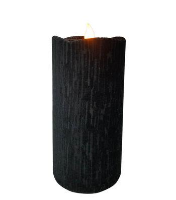 Maker's Halloween 3''x6'' LED Velvet Candle-Black