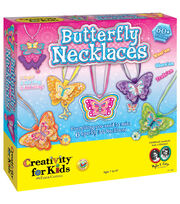Creativity For Kids Butterfly Necklaces Kit, , hi-res