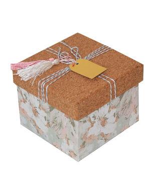 Small Square Cork Box-Canalis