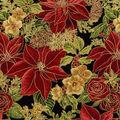 Christmas Cotton Fabric -Poinsettias
