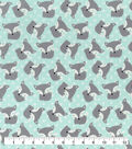 Snuggle Flannel Fabric-Tossed Fox Mint