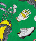 Novelty Cotton Fabric 44\u0022-Ready Set Golf