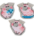 RIOLIS 2\u0027\u0027x2\u0027\u0027 Counted Cross Stitch Kit-Piglet Magnets