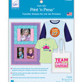 June Tailor Print \u0027n Press Transfer Paper-Ink Jet 3/Pkg