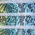 Fast Fashion Burnout Spandex Fabric-Lagoon Snake