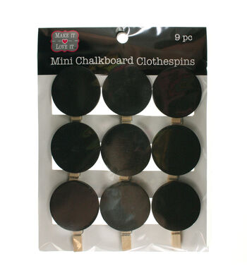 Make It Love It Chalkboard Clothespins Circles