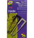 Metal Shawl Pin Square Head    2 ct package Gun Metal/ Nickle