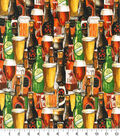 Novelty Cotton Fabric -Crafted Brews Packed