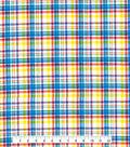 Tutti Fruitti Ahoy Embellished Fabric -Yellow, Red & Blue Plaid