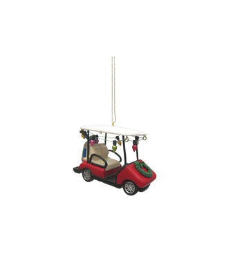 Maker's Holiday Christmas Golf Cart with Lights Ornament