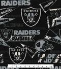Oakland Raiders Fleece Fabric -Retro