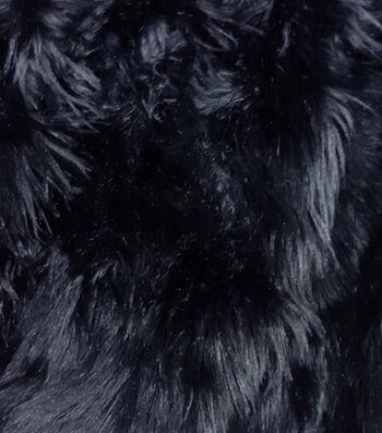 Fashion Faux Husky Fur Fabric -Black