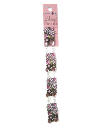 Halcraft Bliss Beads Floral Connectors-Pink & Brass