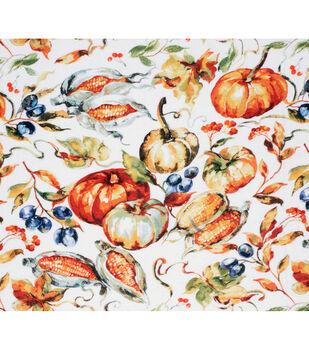 Super Snuggle Flannel Fabric-Fall Harvest Pumpkin
