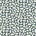 Keepsake Calico Cotton Fabric-Packed Daisy Navy
