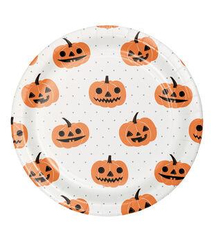 Maker's Halloween 8 pk 8.88'' Dinner Plates-Jack-o'-lantern