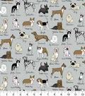 Snuggle Flannel Fabric -Dog Breeds