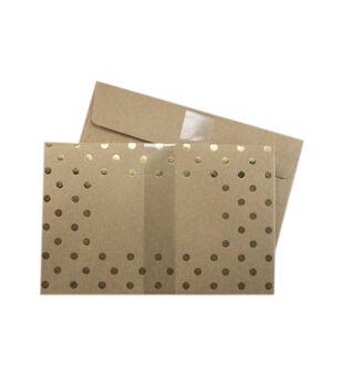 Park Lane A9 Envelopes-Gold Polka Dot