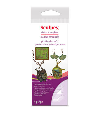 Sculpey Design It Templates-Jewelry Shapes