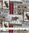 Novelty Cotton Fabric-Wilderness & Wild Life Patch