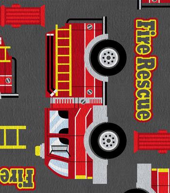 """Anti-Pill Fleece Fabric 61""""-Fire Rescue"""