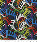 Novelty Cotton Fabric-Multi Color Music