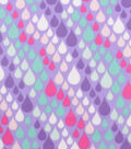 Blizzard Fleece Fabric-Pastel Raindrops
