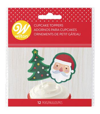 Wilton 12ct Cupcake Topper Picks-Santa Tree
