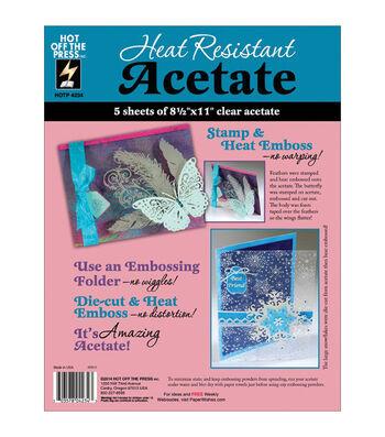 """Heat Resistant Acetate 8.5""""X11"""" 5/Pkg"""