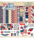 PhotoPlay Collection Pack 12\u0022X12\u0022-Red, White & Blue