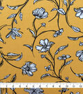 Knit Prints Rayon Spandex Fabric-Yellow Sketched Floral