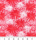 Snuggle Flannel Fabric -Pink Floral Bursts