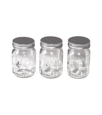 "Tim Holtz Idea-Ology 3/Pkg-4""X2.25"" Mini Mason Jars"