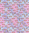 Snuggle Flannel Fabric-Clouds & Rainbows