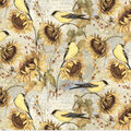 Harvest Cotton Fabric-Harvest Sunflowers and Finches