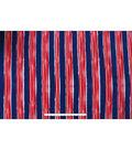 Anti-Pill Fleece Fabric -Nautical Stripes