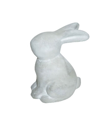 Easter Decor Cement Sitting Bunny