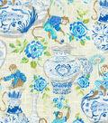 Dena Upholstery 8x8 Fabric Swatch-Monkey Jars/Tidepool