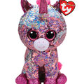 Ty Inc. Flippables Medium Sequin Sparkle Unicorn-Pink