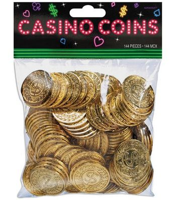 Casino Gold Coins 144PK-