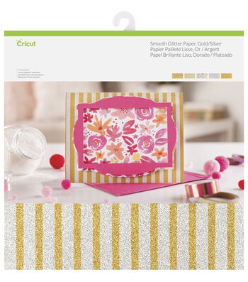 Cricut 10 Pack 12''x12'' Smooth Glitter Papers-Gold & Silver
