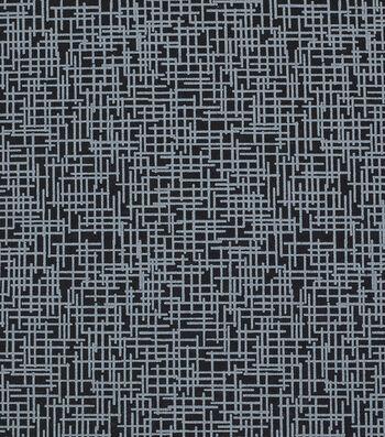Mardi Gras Cotton Fabric-Crosshatch Black