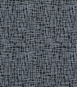 Mardi Gras Cotton Fabric-Crosshatch Black