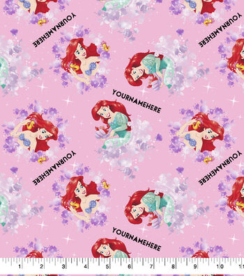 Disney Print Fabric by Springs Creative-Ariel Discover Your Dreams